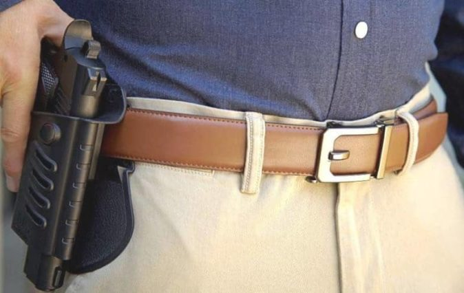 Kore Trakline Men S Gun Belt Gold Star Holsters Once the kickstarter campaign is funded, we will send out surveys to all backers to gather reward choices (buckle styles, leather colors, etc.) and shipping. kore trakline men s gun belt